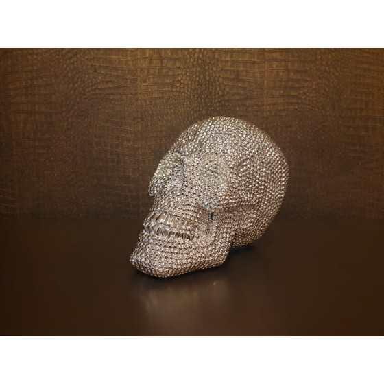 Skull Bling Silver 25cm