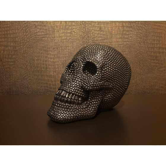 Skull Bling Zwart 25cm