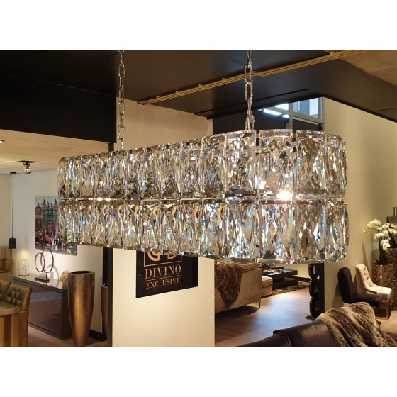 Hanglamp Vienna zilver 8-Lights