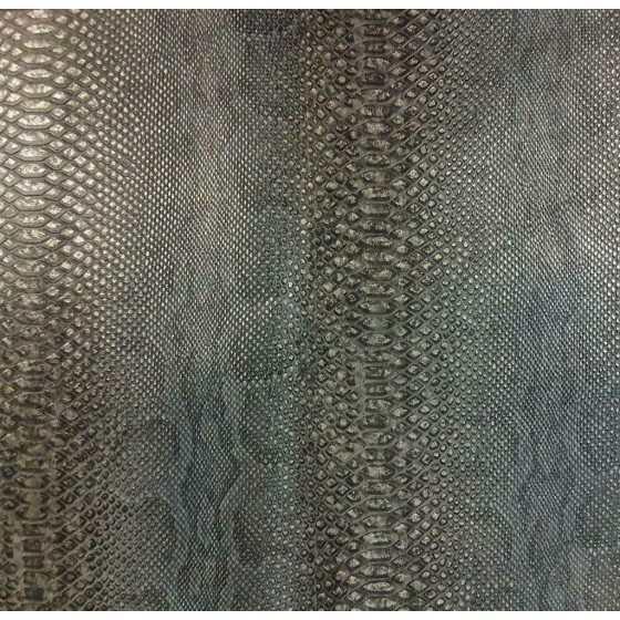 Vliesbehang Snake print zwart