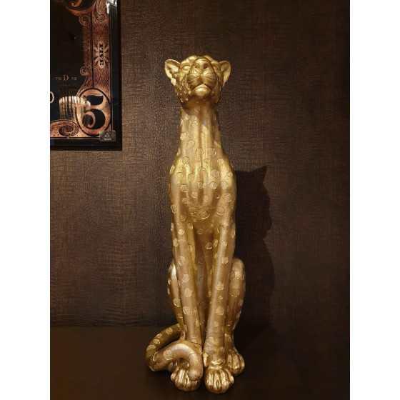 Gouden panter beeld 90x40cm