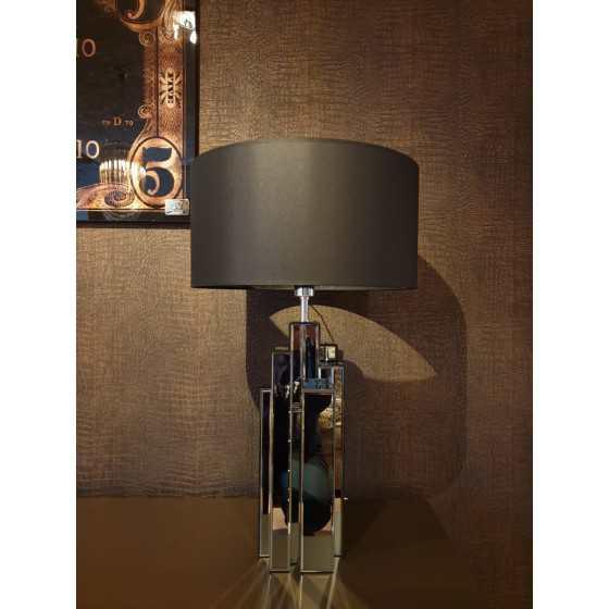 Tafellamp Dynamite Antraciet Spiegelglas