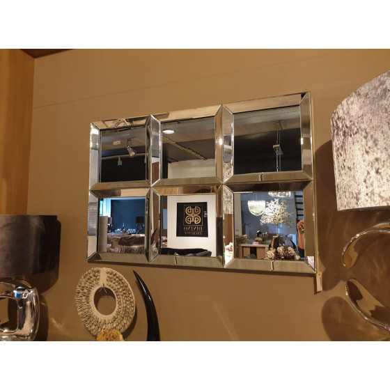 Spiegel 6 vlaks zilver met spiegel zijkant 120x80