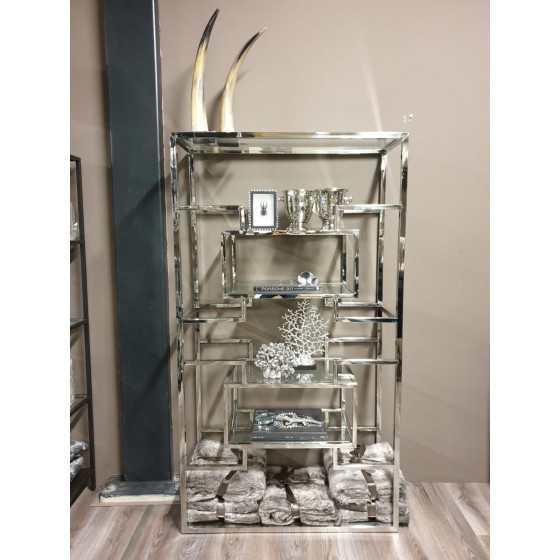 Florence wandkast zilver inclusief glasplaten 180x100x40