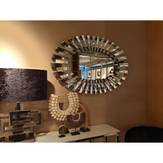 Spiegel zilver ovaal 120x80cm