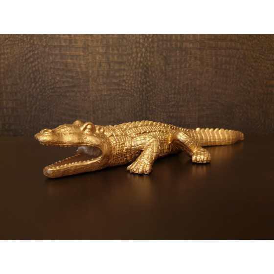 Krokodil Goud 40x15cm