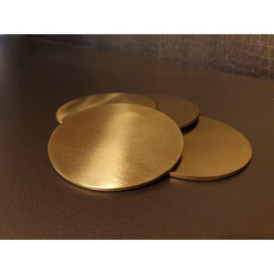 Onderzetters Goud Metaal 4 stuks