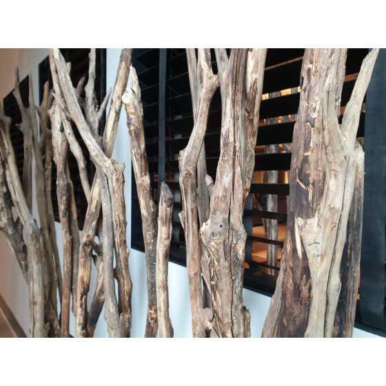 Roomdivider Chestnut Brown Burned 175x40