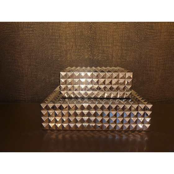 Eichholtz boxen zilver Vivienne 29,5x22x12cm