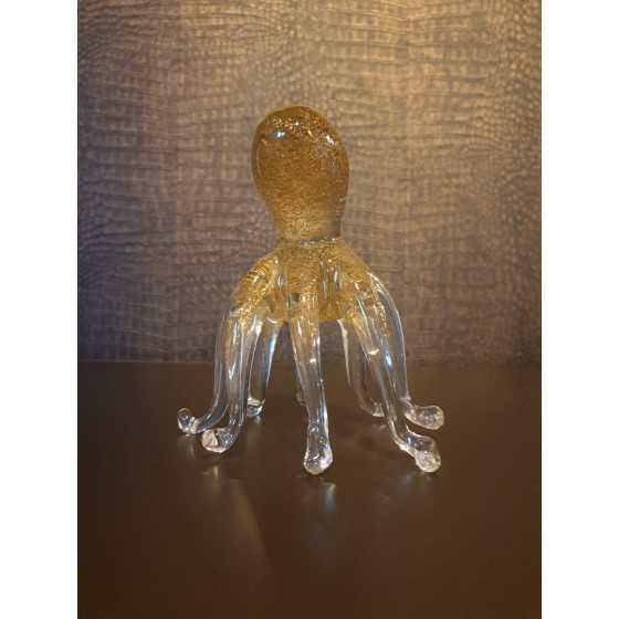 Gouden kwal van glas 16cm