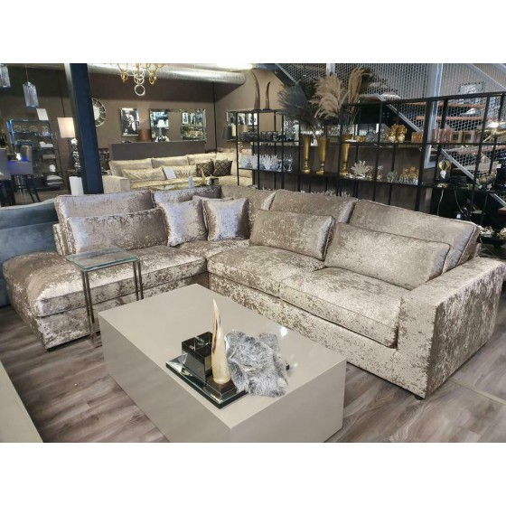 Hoekbank | Bankstel | Loungebank | Model Saint-Tropez | Truffle Velvet | Lounge Links