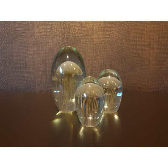 Gouden kwal in glas 11 cm