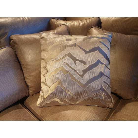 Kussen champagne velvet zebra  45x45cm