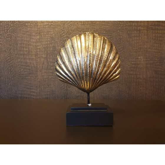 Gouden schelp op statief 20x15cm