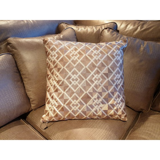 Kussen Square Champagne Brons 45x45cm