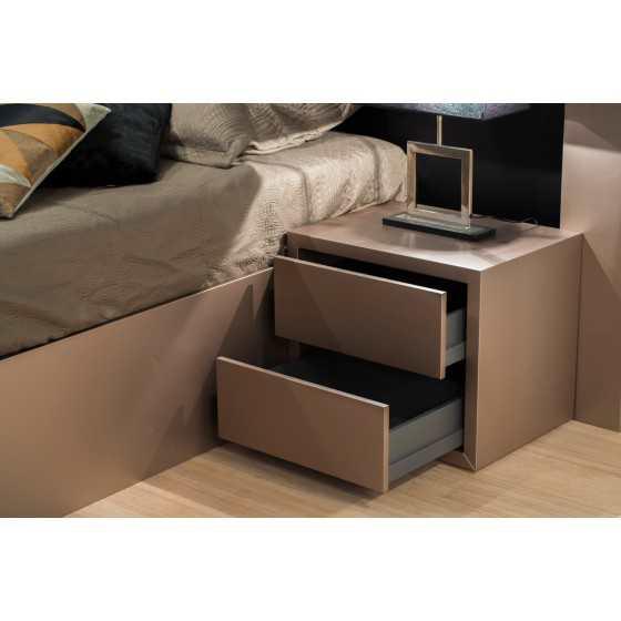 Nachtkastje push met 2 lades 50cm hoog