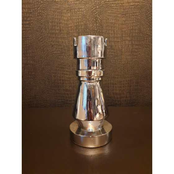 Schaakstuk klein zilver toren 23cm