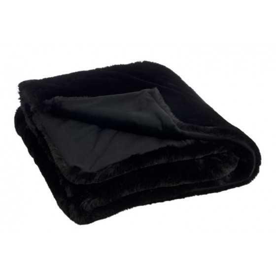 Plaid Cutie Polyester Zwart 180x130cm