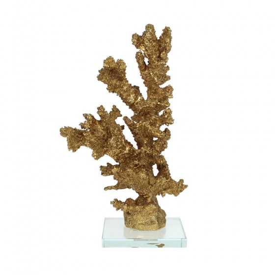 Koraal Ornament goud 26x14x15cm