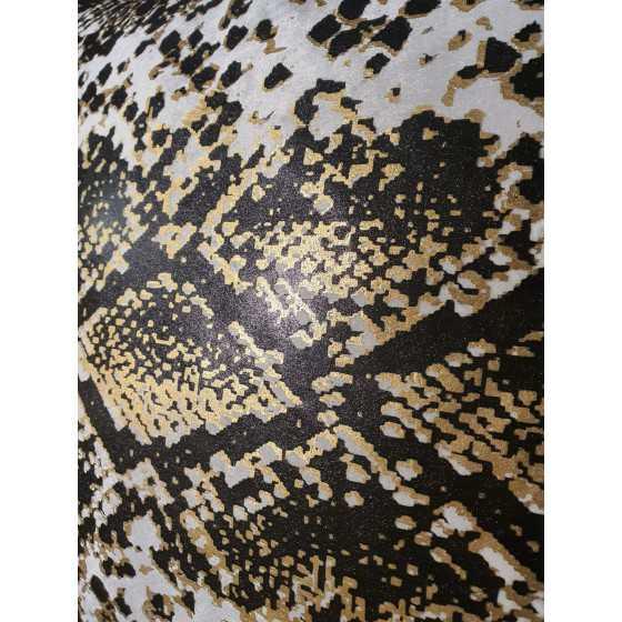 Kussen snake zwart/goud