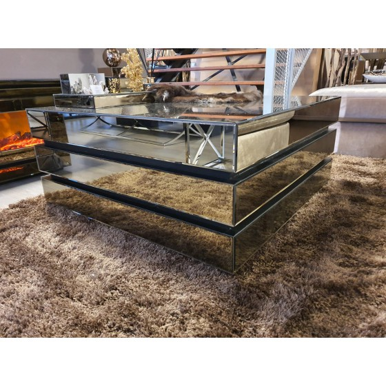 Sepia salontafel 3 lagen 100x100cm