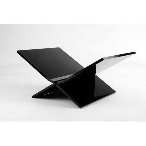 Boekensteun perspex zwart design