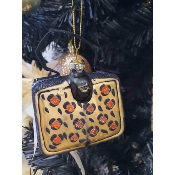 Kerstbal handtas luipaard