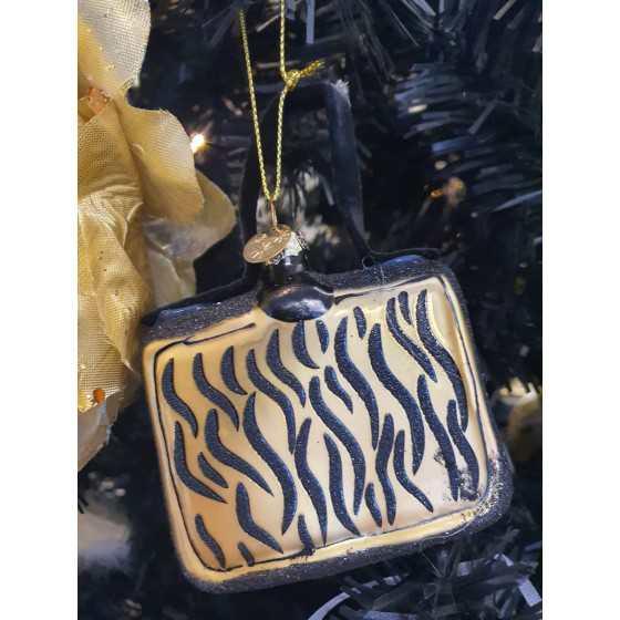 Kerstbal handtas tijgerprint