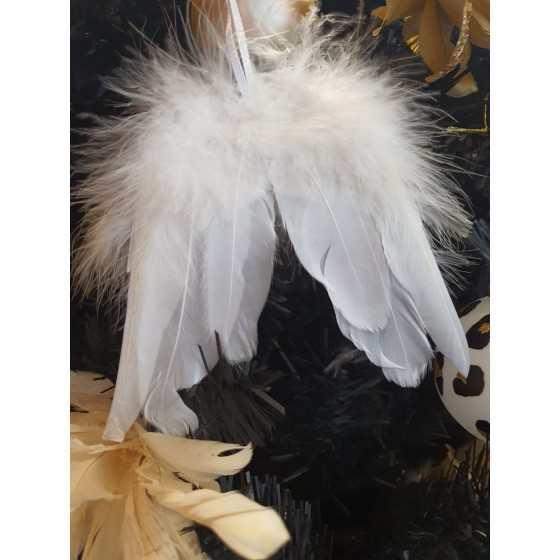Engelvleugels veren wit