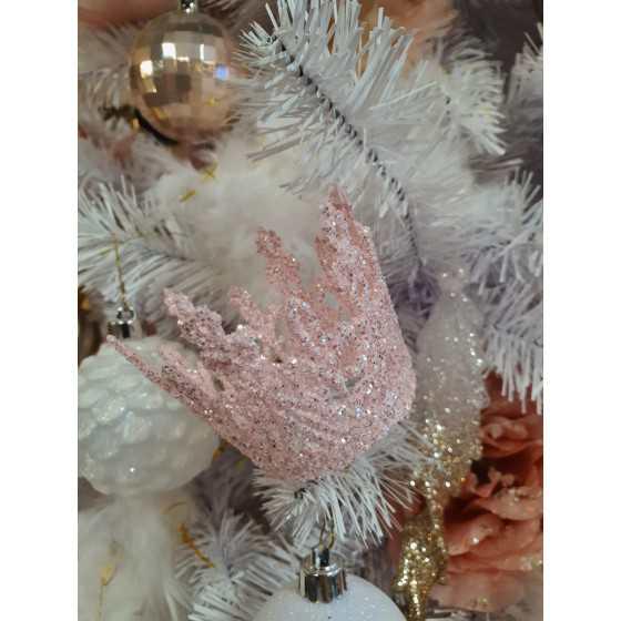 Roze glitter kroon hanger