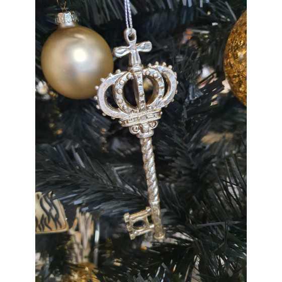 Kerst sleutel zilver/goud 10cm