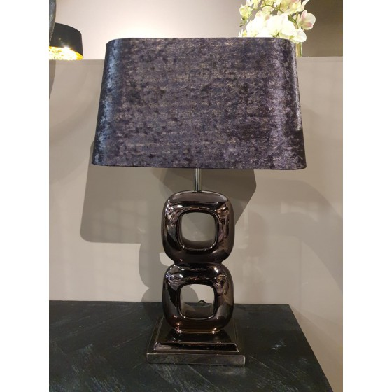 Mini Dubai lamp antraciet (zonder kap) 60cm