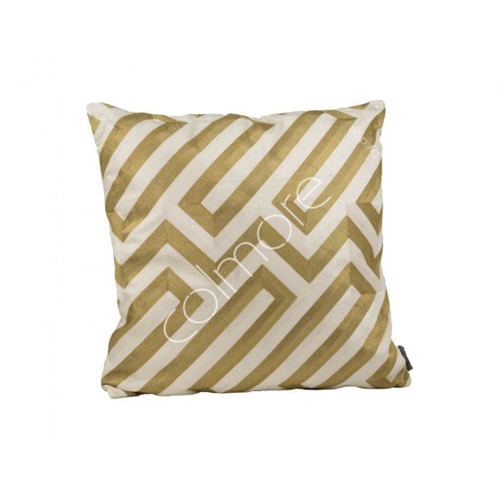 Kussen Diga Colmore goud/ivoor doolhof 50x50