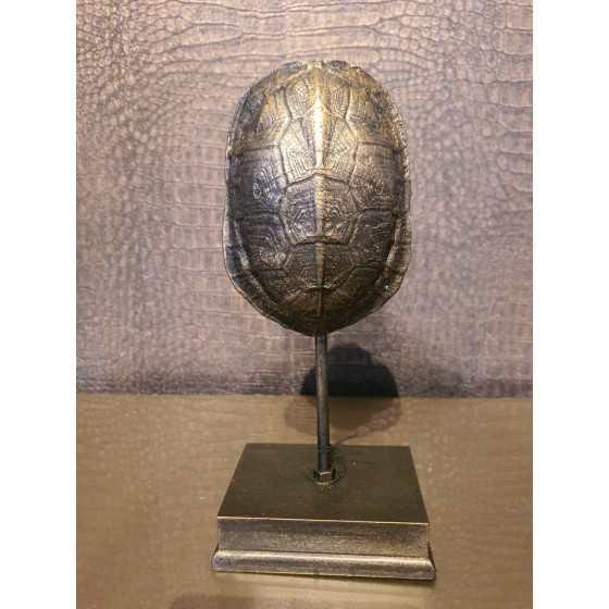 Schildpad brons op voet 22cm