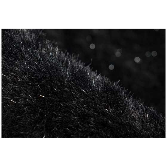 Vloerkleed Twist 200x290cm Zwart met glitter