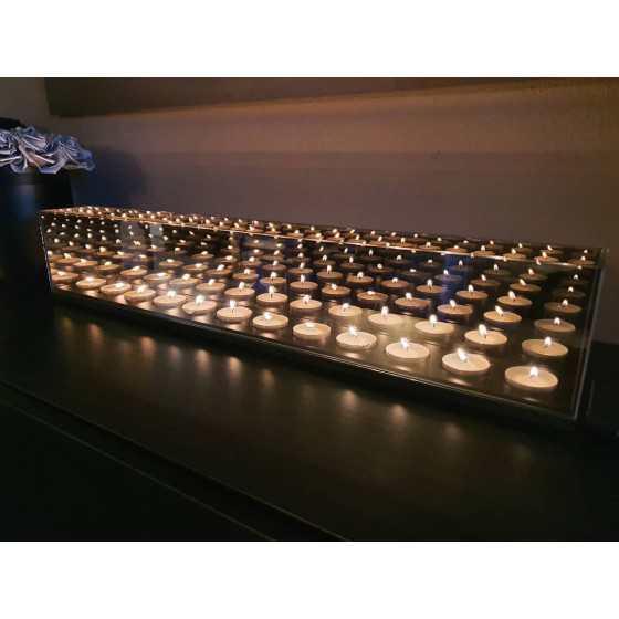 Infinity Waxinehouder 12-Licht breed 65x13x8cm