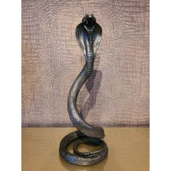 Cobra slang 40cm hoog zwart