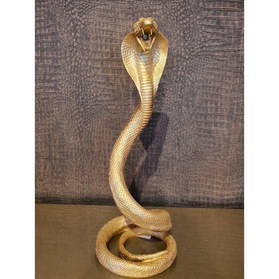 Cobra slang ornament 40cm hoog goud