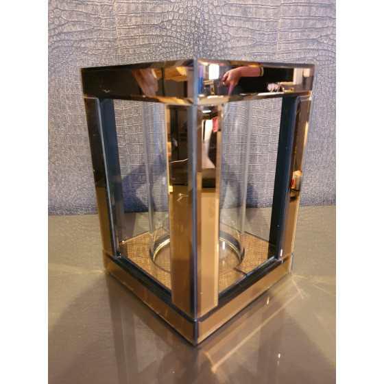 Windlicht | Spiegel | Brons 25x17cm