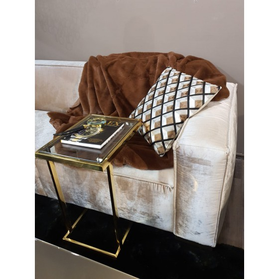 Plaid Cutie Polyester Bruin 130x180