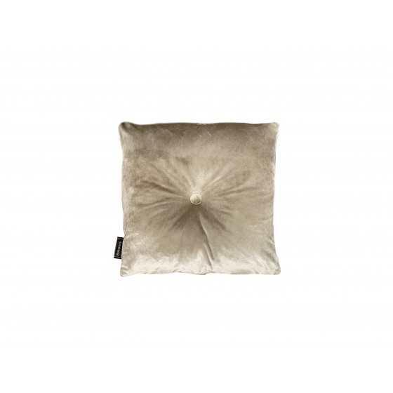 Brons Kussen Italian velvet sand knoop 45x45cm