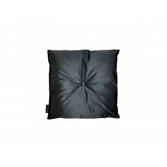 Brons Kussen zwart met knoop 45x45