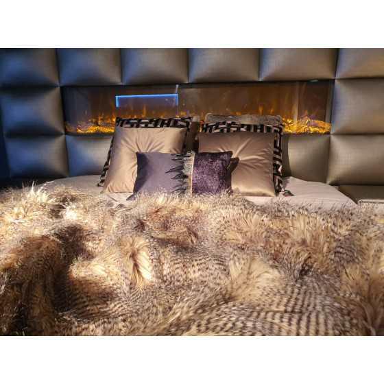 Woondeken | Bedsprei XL | Imitatie struisvogel 240x220cm