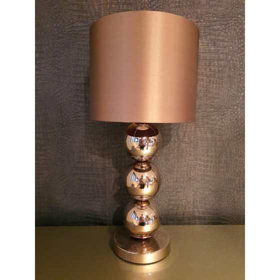 Bollenlamp 3 bol Sepia 60 cm inclusief kap