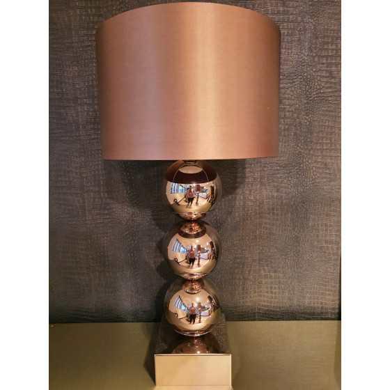 Bollenlamp 3 bol Sepia 80 cm inclusief kap