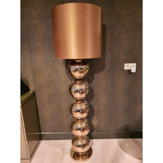 Vloerlamp | Bollenlamp | Sepia | 165cm inclusief kap