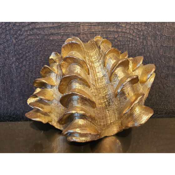 Gouden schelp groot 10x17x23cm