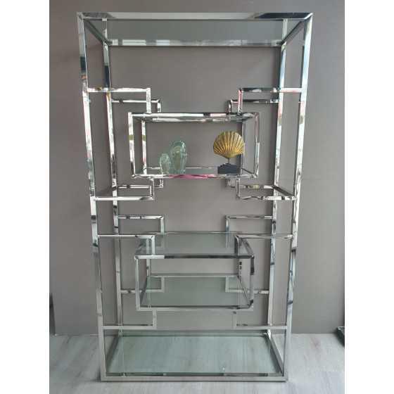 Snow wandkast zilver inclusief glasplaten 180x100x40