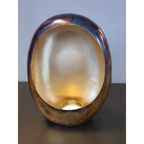 Kaarsenhouder Brons/Goud 22x10x27,5cm