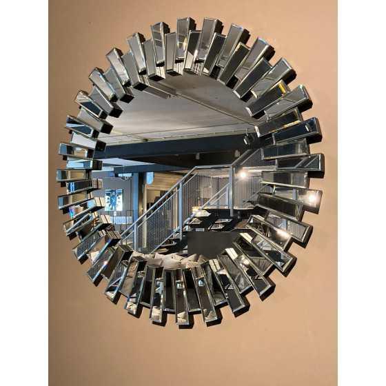 Piano Spiegel zilver rond 90cm